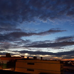 Fall sunset from a building roof, SCS, São Paulo, Brazil. thumbnail