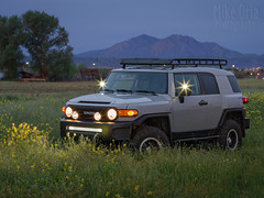 FJ Cruiser (mikeSF_) Tags: toyota fjcruiser fj suv 2013 mikeoria photography pentax 645z 645 a120 120mm car auto automobile sport utility vehicle truck kc hilights led bar flood spot fog baja rack bajarack trailteams trd mt mount diablo mtdiablo brentwood california contracosta county mustard field outdoor twilight orchard cementgrey