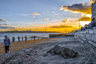 Sunset, Portugal, Lissabon (Lisbon, Lisboa), Tejo