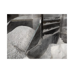 Earth selection. 2   ( Pamplona ) (José Luis Cosme Giral) Tags: earthselection2 minimalism textures steelandearth industrial place suburbanplace oxide gravel whitegrit olympus pamplona navarra