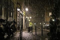 Night Time Snow - Streets of Montmartre and Sacré-Cœur - Paris - Dec 2017 (Dis da fi we) Tags: streets montmartre sacrécœur paris snow france