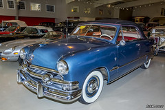 1951 Ford Deluxe convertible (kenmojr) Tags: maine owlshead transportation museum car auto automobile vintage classic antique rare vehicle newengland pinetreestate kenmo kenmorris kenrmorrisjr display history historical education nikon d7100 nikkor 18105mm auction 1951 ford deluxe convertible 2door blue