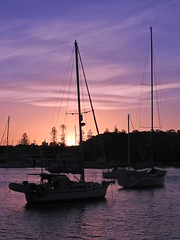 Tomorrow is a lovely day (Couldn't Call It Unexpected) Tags: yachts sunset sydney harbour dusk
