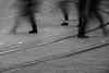 EPMG Urban Transport April 2018 -16 (Philip Gillespie) Tags: epmg edinburgh scotland people transport crowds men women children kids boys girls buses cars pavement roads lines marking long exposure mono monochrome colour color burgandy blue yellow orange green street crossing movement fast feet legs walking canon 5dsr 2018 april spring urban city shopping markings