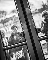 Tramspotting (Henka69) Tags: publictransportation tram commuters praha prague monochrome streetphotography