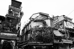 Seems a mess, but it is not ! Typical street in Hanoi (Didhle) Tags: vietnam hanoi metropole sofitel colony french street nb