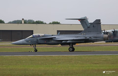 9244 SAAB JAS 39C Gripen, Czech Air Force, RAF Fairford, Gloucestershire (Kev Slade Too) Tags: 9244 saab jas39 gripen czechairforce egva riat2017 raffairford gloucestershire