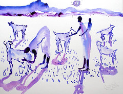 AFRICA TO THE NAKED 234 (eduard muntada) Tags: africa to the naked oxid 234 watercolor sun light simplicity survive minimal africanpeople river working