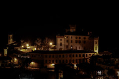 OK-V-0192-4 (Fabio Santucci - Fotografie) Tags: castle fortress town old oldtown village city cityscape night nightscape middle age middleage medioeval historic history monument museum italy piedmont landmarks wiew scene scenery barolo langhe