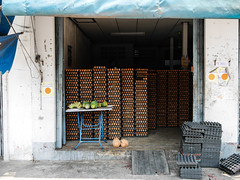 Thailand - Ubon Ratchathani - Eggs (st3000) Tags: asia thailand siam seasia southeastasia isan northeast travel countryside lumix gm5 eggs food sales shop shophouse temple