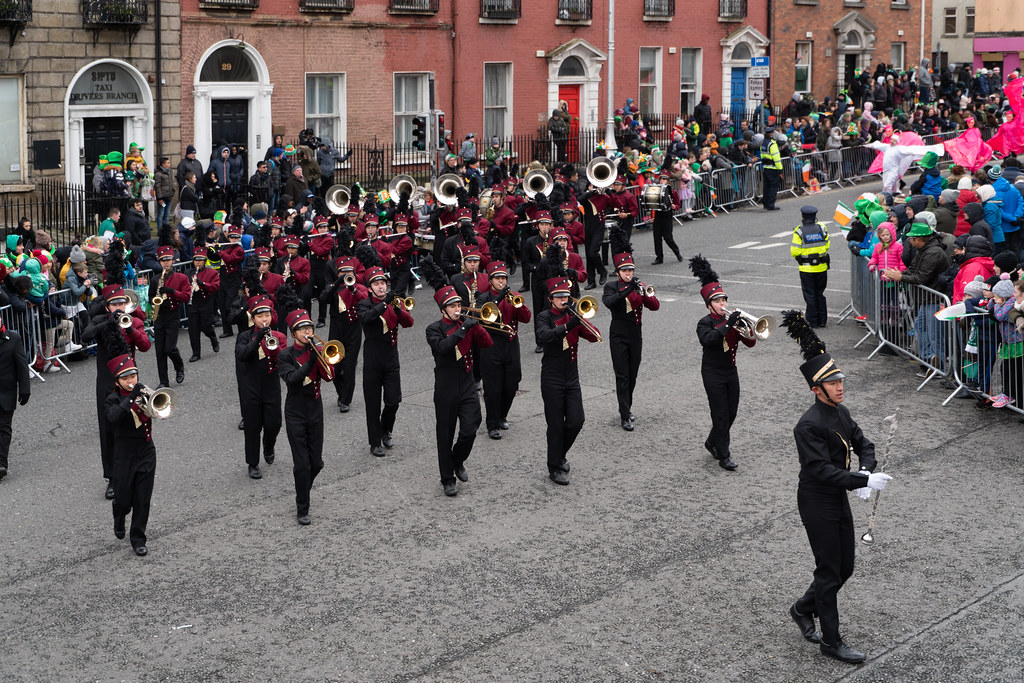 La Cañada High School Marching Spartans[ Patricks Day Parade In Dublin 2018]-137612