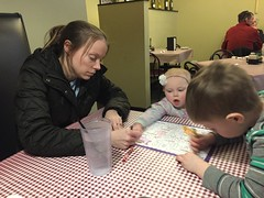 """Paul, Dani, and Mommy Color at Little Italian Pizza • <a style=""""font-size:0.8em;"""" href=""""http://www.flickr.com/photos/109120354@N07/26050338697/"""" target=""""_blank"""">View on Flickr</a>"""