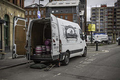 How many miles to the barrel? (tootdood) Tags: canon6dmkii manchester cloudy gloomy sky how many miles barrel beer van port street