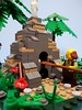 The baker at his work (The Corner Builder) Tags: lego lor lenfald landsofroawia minifig mocs minifigs moc baker bakery oven great western isles well jungle bread table challange