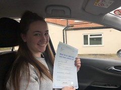 Massive congratulations to Freya Norris passing her driving test on her first attempt with only 3 minor faults!!  www.leosdrivingschool.com