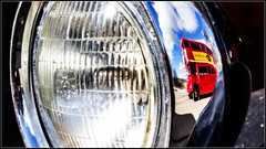 Light relief (Blaydon52C) Tags: beamish museum routemaster aec bus coach reflections reflection chrome red