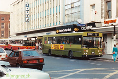 CIE Limerick 'KC180'. In the days of Gaywear. (Longreach - Jonathan McDonnell) Tags: limerick cie corasiompaireireann gac scan scanfromaprint 1980s kc180 lzs180 toddsoflimerick gaywear trustee savings banko connell street limerickcie city services