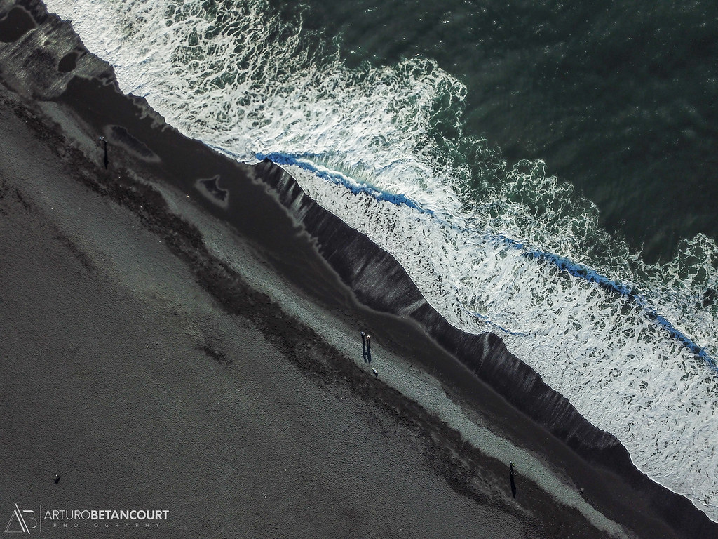 Black Sand Beach Arturo Betancourt Photography Tags Aerial Aerialview Birdview