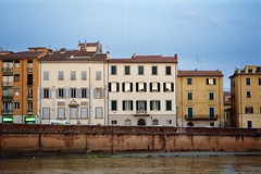 Sunset in Pisa (michele.palombi) Tags: pisa arno tuscany analogic film kodak portra800