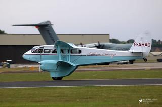 G-AHAG Brush Coachworks DH89A Rapide, Scillonia Airways, RAF Fairford, Gloucestershire