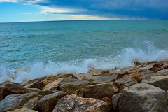 Spanien 2018 Playa y Fiesta (miloyu) Tags: spanien 2018 playayfiesta nikon beach meer himmel palmen landschaft felsen wasser wolken