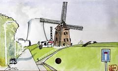 Doel (chando*) Tags: croquis sketch watercolor aquarelle