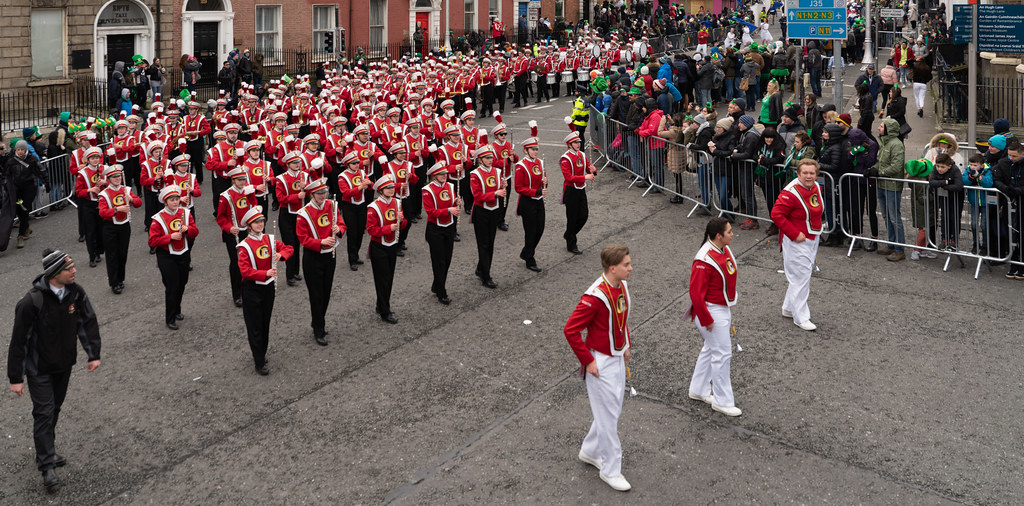 Lakeville South High School Marching Cougars [Dublin Parade March 17 2018]-137673