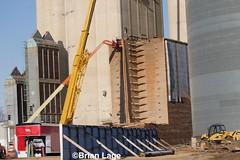 Grundy wood elevator (eslade4) Tags: grundycenter elevator demoliton wood woodelevator coop