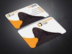 Creative-Business-Card-Orange (MD SHUVO HOSSAIN) Tags: business card clean color colorful cool corporate creative divergent elegant minimal new personal print template professional proposal red shape studio stylish visiting