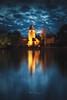 L'île Barbe (Stéphane Sélo Photographies) Tags: france lyon paysage pentax pentaxk3ii rhône saône sigma1020f456 banc blending bluehour eau heurebleue landscape promenade tour îlebarbe