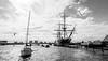 HMS Warrior (Rhisiart ap Someone) Tags: england gbr portsea southhampshire portsmouth portsmouthhistoricdockyard portsmouthharbour unitedkingdom sea monochrome boat ship coastline museum hampshire hmswarrior