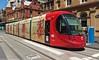 Sydney Light Rail - LRV2112 departs Capitol Square (john cowper) Tags: sydneylightrail lrv2112 haystreet georgestreet haymarket capitolsquare l1 transportfornsw caf urbos3 sydney newsouthwales