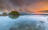 Beyond the tree (marcolemos71) Tags: seascape water lowtide sky sunset dusk clouds tree gilitrawagan island lombok indonésia leefilters longexposure marcolemos