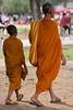 Monks (oxfordblues84) Tags: cambodia kingdomofcambodia siemreap angkor angkorarcheologicalpark angkorwat unescoworldheritagesite unesco oat overseasadventuretravel monk hindumonk man religiousman orange orangerobe monks boy youngmonk touristattraction