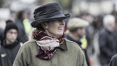 Fancy hat (Frank Fullard) Tags: frankfullard fullard candid street portrait fancy lady hat horsefair fair ballinasloe tweed scarf galway irish ireland smile