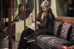 The readers (rfabregat) Tags: londres london scene travel travelphotography nikon nikond750 d750 nikkor nikkorlenses underground grandmother granddaughter reading newspaper love lovely