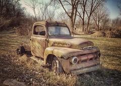 built ford tough...(HTT) (BillsExplorations) Tags: truck truckthursday rust abandoned decay ruraldecay forgotten old vintage fordtruck pickup abandonedillinois pasture field ford builttough