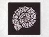 "Print on canvas ""Ammonite"" (arireven) Tags: shibori print ammonite artwork"
