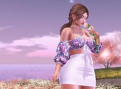 Spring (evolvingengeln) Tags: moncheri wetcat truth spring catwa pumec springflair flower sky garden cute blogger blogging 3dgirl 3davatar 3d fashion fashionblog top skirt beautiful sakura