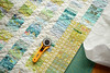 Quilt in Progress (balu51) Tags: patchwork sewing quilting handquilting quilt wip summerquilt coinquilt stashsewing scraps green yellow teal white squaringupaquilt rotarycutter ruler modernquilt märz 2018 copyrightbybalu51
