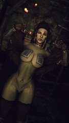 Eitra | Solo (noirslate) Tags: skyrim orc nude nsfw character fantasy female video game screenshot warm 3d 2k 4k portrait wallpaper landscape armor sexy