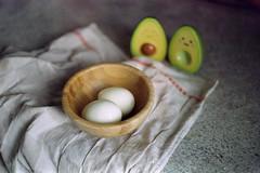 film (La fille renne) Tags: film analog 35mm lafillerenne canonae1program 50mmf18 kodak kodakso554 expiredfilm expired winter kitchen eggs
