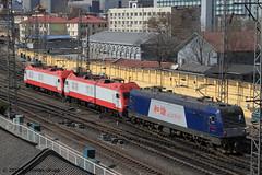I_B_IMG_8457 (florian_grupp) Tags: asia china locomotive train railway railroad passenger diesel electric beijing station citywall beijingmainstation chaoyang peking cnr chinanationalrailway traffic bluesky