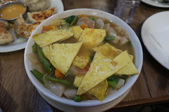 Egg Thenthuk, GILINGCHE TIBETAN RESTAURANT, Thamel, Kathmandu, Nepal (Ryo.T) Tags: nepal kathmandu thamel ネパール カトマンズ カトマンドゥ タメル tibetanfood チベット料理 tibet チベット