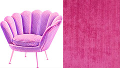 The Furniture Maker Is My New Best Friend (globaldenny) Tags: customfurniture hollywoodregency glam chenille glamour oldhollywood furniture chair flower shell pink