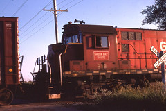 GB&W RS27 #318 at Black Creek WI  on 6-30-82 (LE_Irvin) Tags: blackcreekwi gbw rs27