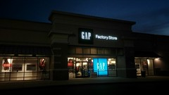 Quite possibly the best night shot I've ever taken! (Retail Retell) Tags: gap factory store outlet closing closure liquidation sale south lake centre southaven ms desoto county retail tanger relocation