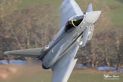 RAF Typhoon FGR.4 ZK374 low level at Ullswater (NDSD) Tags: low level typhoon eurofighter fgr4 ullswater cumbria flying jet raf lake district plane sky aircraft aviation bae systems tarnish warton water waterlocked