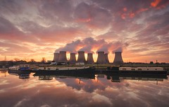 The Power Of Colour (Captain Nikon) Tags: ratcliffeonsoarpowerstation powerstation coalfired coolingtowers condensingwatervapor steam riversoar source nottinghamhire notts england greatbritain landmark uk nikon reflections boats sunrise dawn moody spectacular landscapephotography outdoorphotography industrial