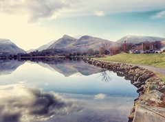 A different angle of llyn padarn.